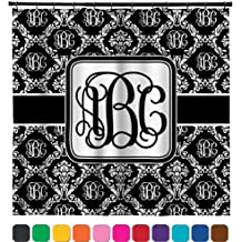 """Monogrammed Damask Shower Curtain - 69""""x70"""" (Personalized)"""