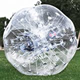 Popsport Inflatable Bumper Ball 4FT/5FT Bubble Soccer Ball 0.8mm Eco-Friendly PVC Zorb Ball Human Hamster Ball for Adults and Kids (5FT Transparent)