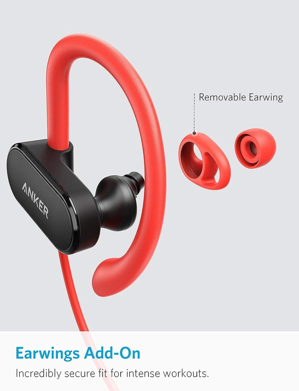 Anker SoundBuds Curve Auriculares inalámbricos Bluetooth 4.1 con batería de 12.5 Horas, Sonido estéreo AptX, Recubrimiento Nano Resistente al Agua, ...