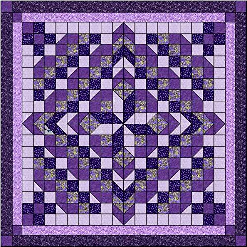 - Easy Quilt Kit Faceted Star/Purple/King Size