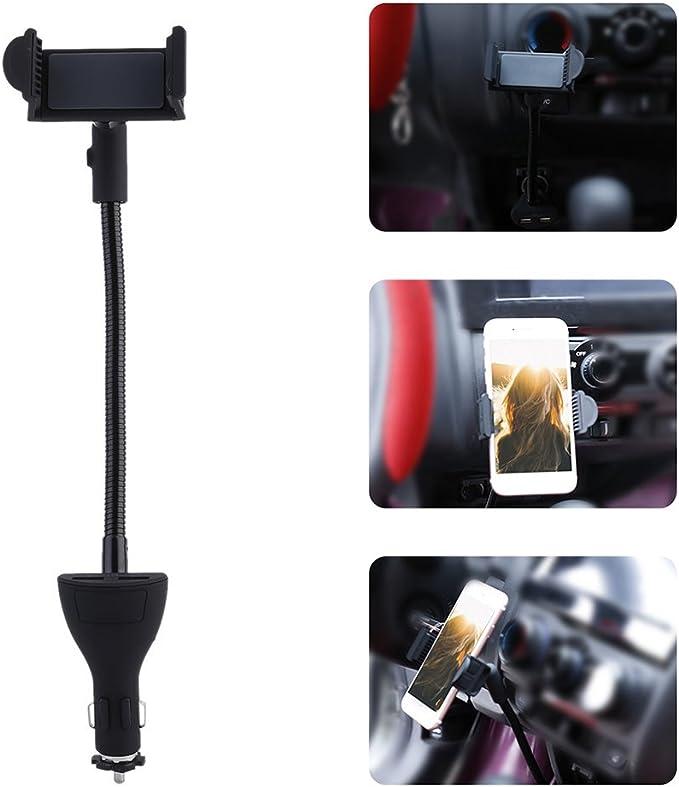 : ExhilaraZ Auto Universal Rotatable Dual USB Car