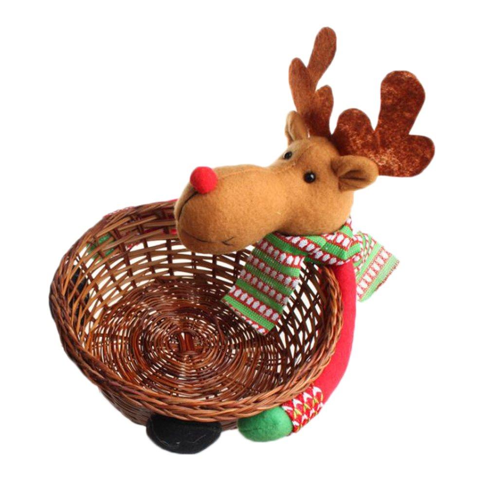 Mackur Christmas basket cervo modello Candy cestino casa tavolo decorazione negozio dei regali di Natale 1pezzo, A, 20 * 19cm