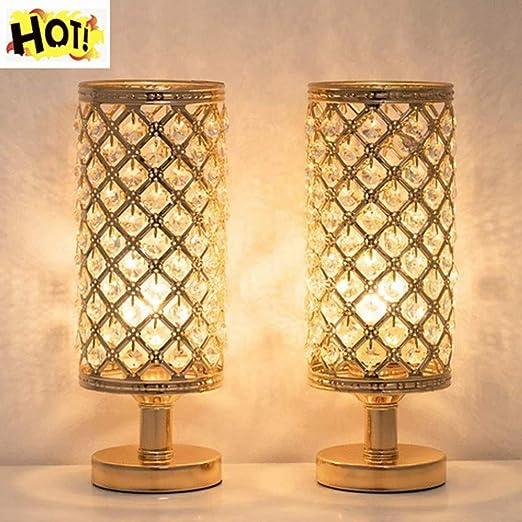 Lámparas Mesilla Noche Cristal Diseño Moda Lámpara Escritorio ...