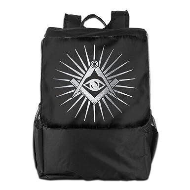 748bd620af10 Amazon.com  Louise Morrison Freemason All Seeing Eyes Women Men Laptop  Travel Backpack College School Bookbag  Clothing