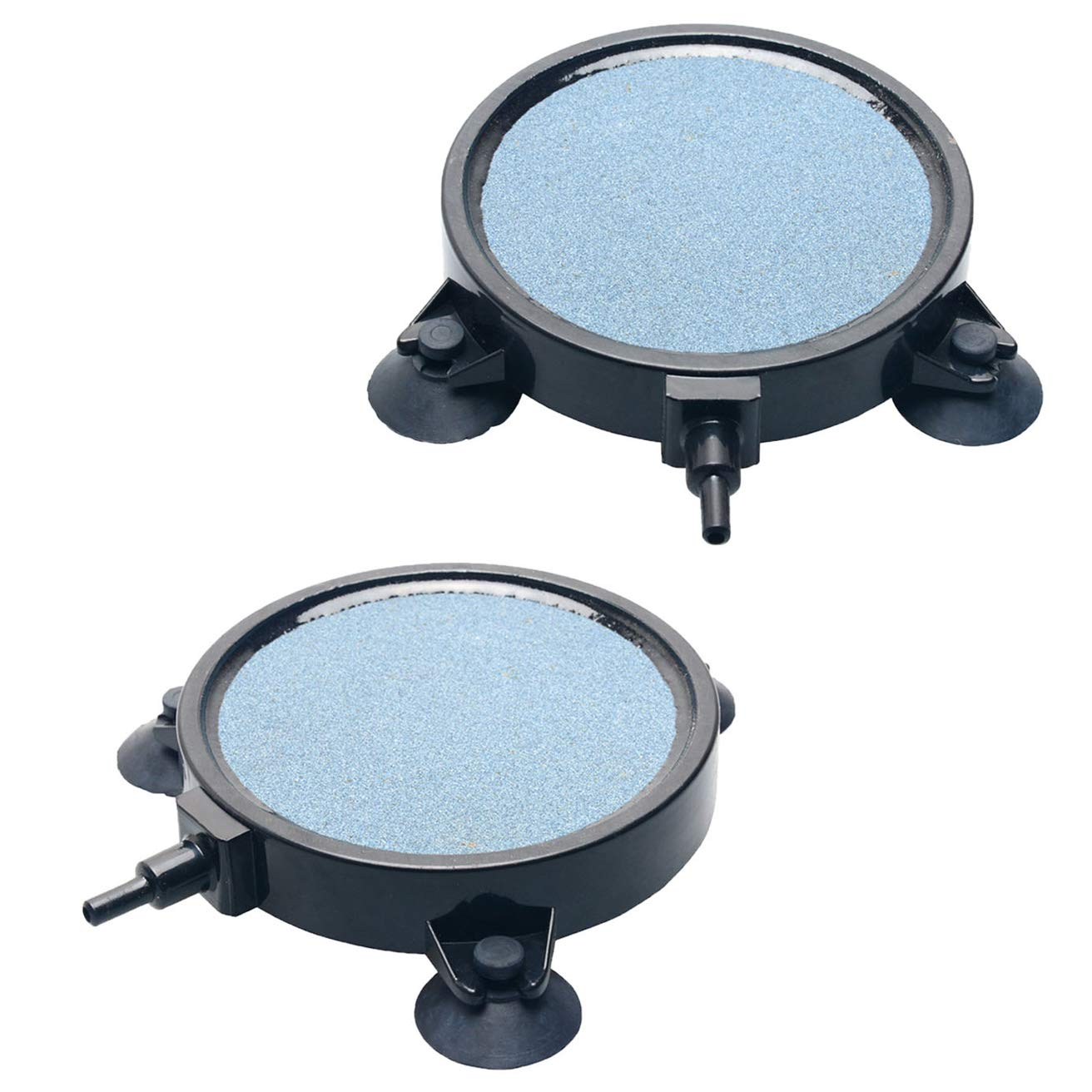 Pawfly 2 PCS 4-Inch Air Stone Disc Bubble Diffuser with Suction Cups for Hydroponics Aquarium Fish Tank Pump by Pawfly