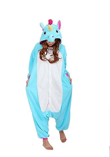 UBeauty Unisex-adult Kigurumi Onesie Unicorn Pajamas (S,Blue)