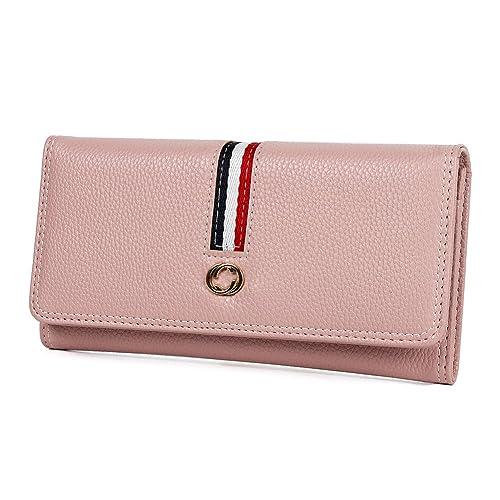 4dca03b91ce5 Misakira 財布 レディース 長財布 大容量 ウォレット レザー 小銭入れ カード9枚収納 おしゃれ
