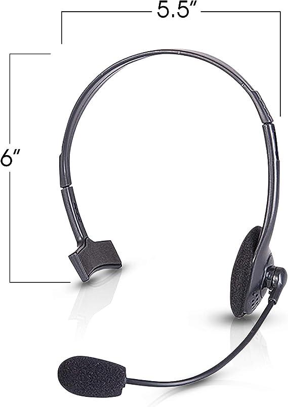 4 Stück Schwarz Headset Mic Mikrofon Kopfbügel Spielzeug Partyzubehör