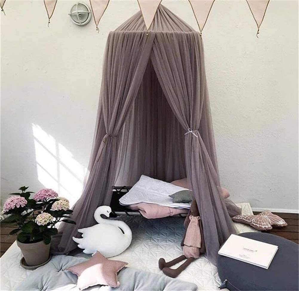 Amazon Com La Boor Girls Bedroom Decorations Children Bed Tent Bed Tent Canop King Size For Tent Nursery Play Room Decor With Lights Gray Home Kitchen