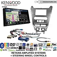 Volunteer Audio Kenwood Excelon DNX994S Double Din Radio Install Kit with GPS Navigation Apple CarPlay Android Auto Fits 2008-2011 Focus (SWC)