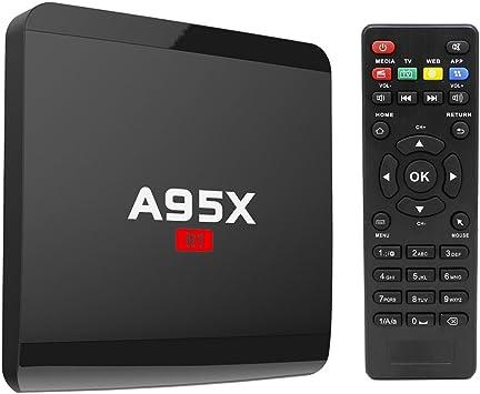 TV Box, Android 6.0 Smart TV Box A95 x R1 Quad Core Soporta 4 K 1080P Ultimate HD reproductor de juego para entretenimiento de televisión: Amazon.es: Electrónica