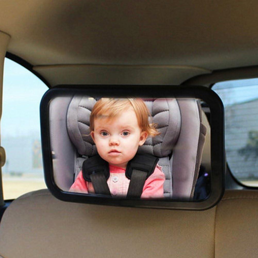 Hosaire Espejo Retrovisor Coche para Vigilar al bebé en el Coche para los Asientos de Niños Orientados hacia Atrás Vigilar Bebé Ángulo Ajustable de 360°