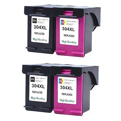 Teng® - 4 Cartuchos de Impresora HP 304 304XL para HP ...