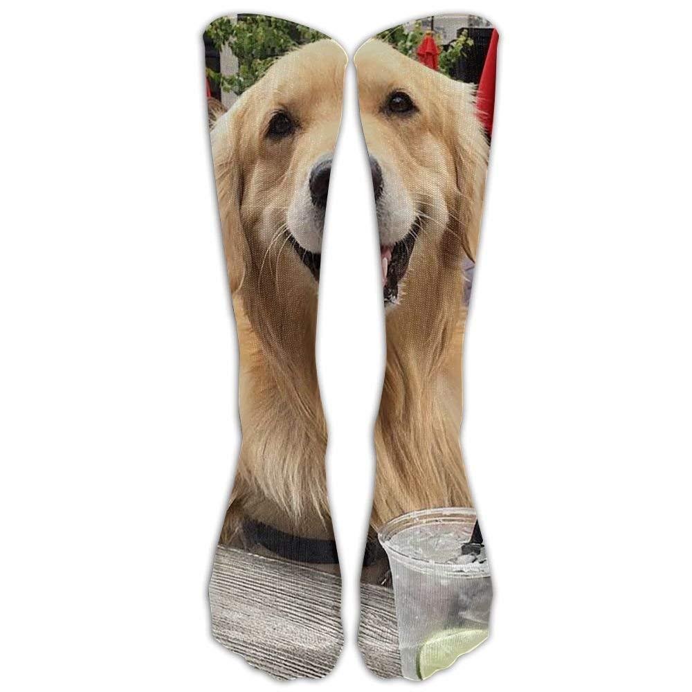 Long Dress Socks Soft Dog Golden Retriever Soccer Comfortable Breathable Over-the-Calf Tube Tukyle