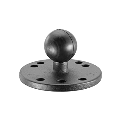 iBOLT 25mm / 1 inch Metal AMPS Round Adapter Plate for Industry Standard Dual Ball Socket mounting arms