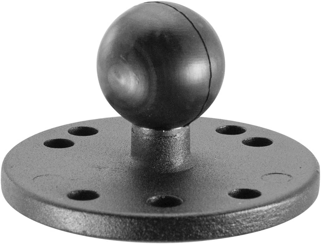 1 inch Composite AMPS Round Adapter Plate for Industry Standard Dual Ball Socket mounting arms iBOLT 25mm