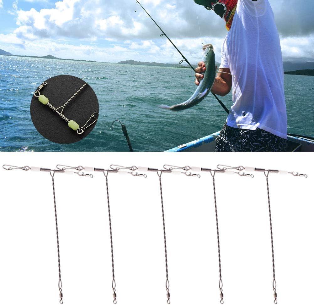 Small quanju cheer Suministros de Pesca 50 Piezas Acero Inoxidable Mosca Cambio r/ápido Gancho Conector Pin Fish Tackle