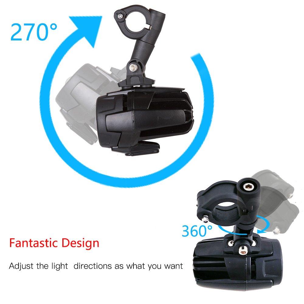 Housse de Protection set1 LITTOU 40 W 3000LM 6000 K Moto C/âblage LED feux Additionnels moto Phare antibrouillard