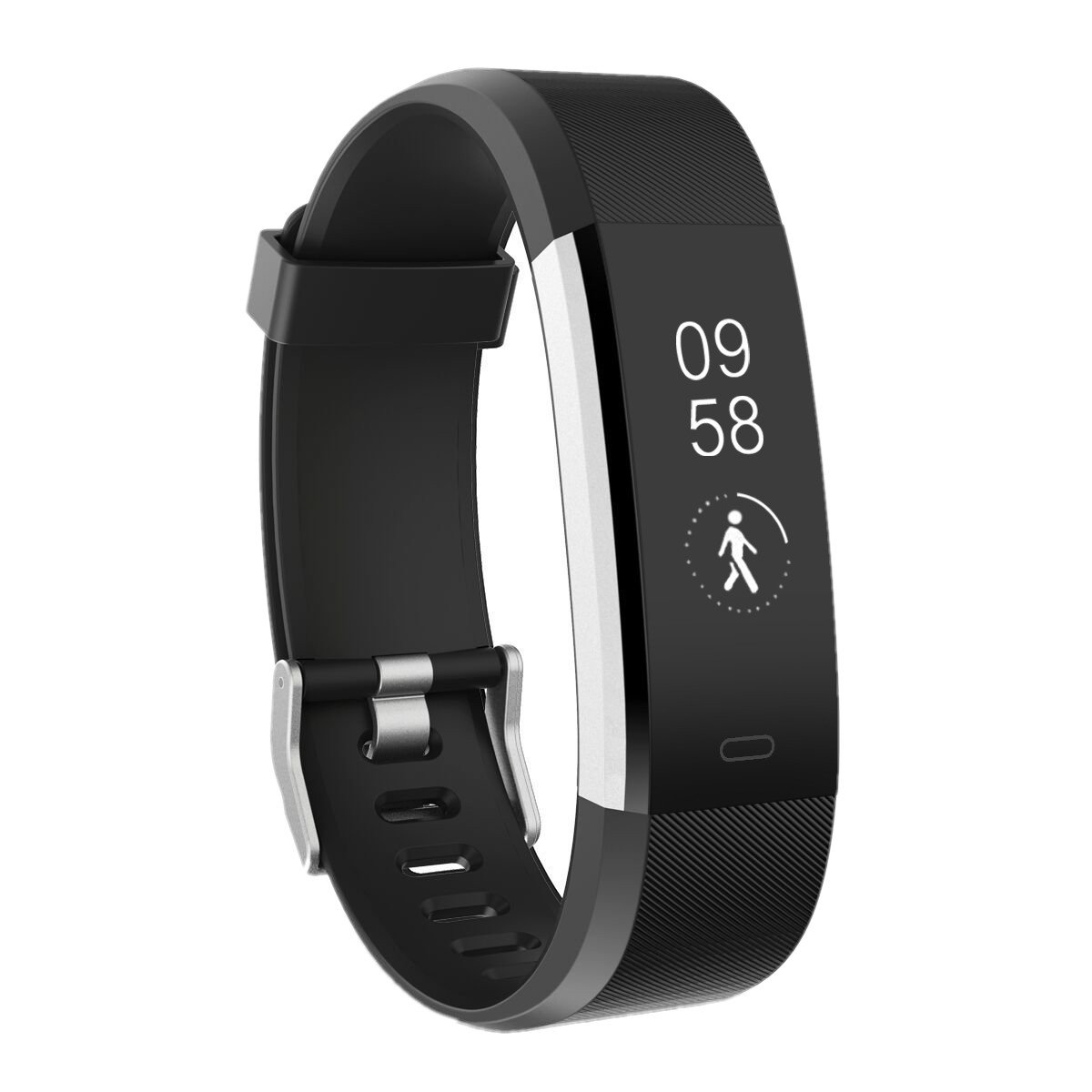 IP67 Fitness Tracker Watch, Waterproof Activity Tracker with Pedometer Heart Rate and Sleep Monitor,Step Calorie Counter Wristband Smart Watch for Android and iOS (Black)
