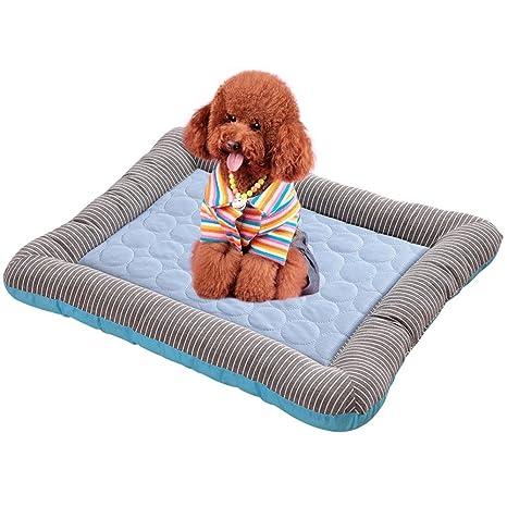 Almohadilla de refrigeración para perro, Aolvo transpirable, borde de tira autorefrigerante, alfombrilla para mascota/perro/gato, cojín para caseta ...