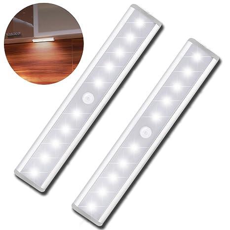 Amazon.com: Sensor de movimiento Gabinete Luz Noche 850 mAh ...