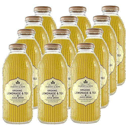 - Harney & Sons Iced Tea, Organic Lemonade & Tea, 16 Ounce (Pack of 12)