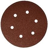 Bosch SR6R062 25-Piece 60 Grit 6 In. 6 Hole Hook-And-Loop Sanding Discs