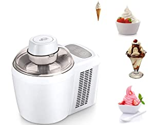 Cooks Essentials Ice Cream Maker Powerful 90W Motor Thermo Electric Self-Freezing System K45559202000 (Renewed)