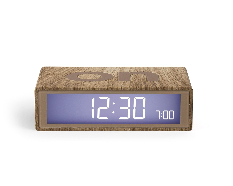 Lexon Flip On/Off Alarm Clock (Light Wood) by Lexon (Image #1)