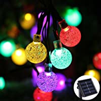 Solar String Light 8 MODEL 20 ft 30LED Globe Outdoor String Light Lighting for Indoor Christmas Home Patio Lawn Garden Wedding Party Decorations (Multi-colored)