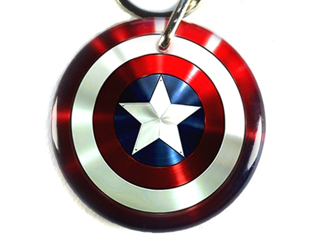 Captain America Pet tag Dog tag Cat Tags - Non Metal (Large 1.5'')