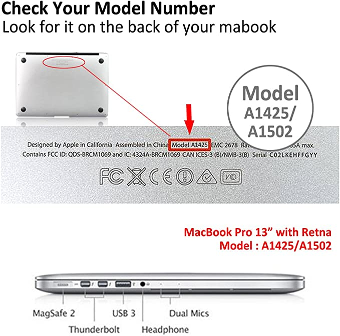 Model:A1425//A1502 ,Pink Series 0864 Cut Out Design,Plastic Pattern Ultra Slim Light Hard Case Keyboard Cover MingCaiFS Laptop Case for Old MacBook Pro 13 Retina -2015