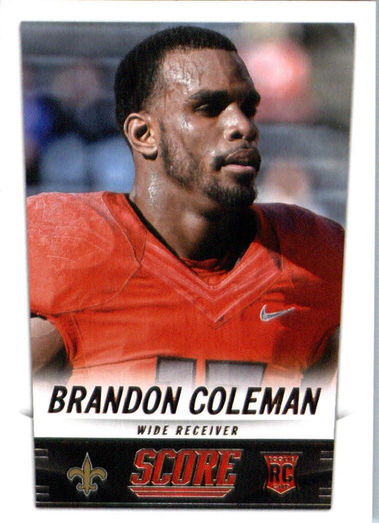 2014 Score Football Card #343 Brandon Coleman - New Orleans Saints ...