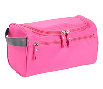 9ae796dd856f Amazon.com   Travel Toiletry Bag Waterproof Zipper Organizer Hanging  Cosmetic Makeup Shower Bag With Large Compartment for Men Women for Trip  Holiday Gym ...