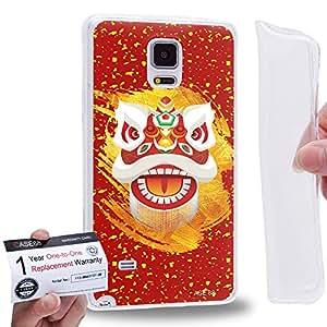 Case88 [Samsung Galaxy Note 4] Gel TPU Carcasa/Funda & Tarjeta de garantía - Art Chinese Southern Lion The Zhang Fei Lion Art2043