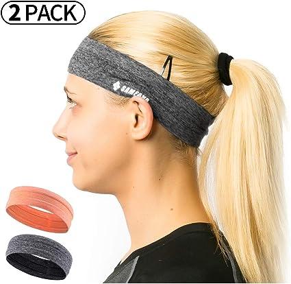 Men Women Sweatband Adjustable Sports Silicone Yoga Gym Running Fitness Headband