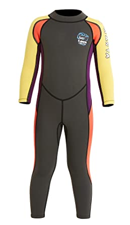 DIVE/&SAIL Child Wetsuit Warm Girl Snorkeling Sun Protect Long Sleeve Diving Suit