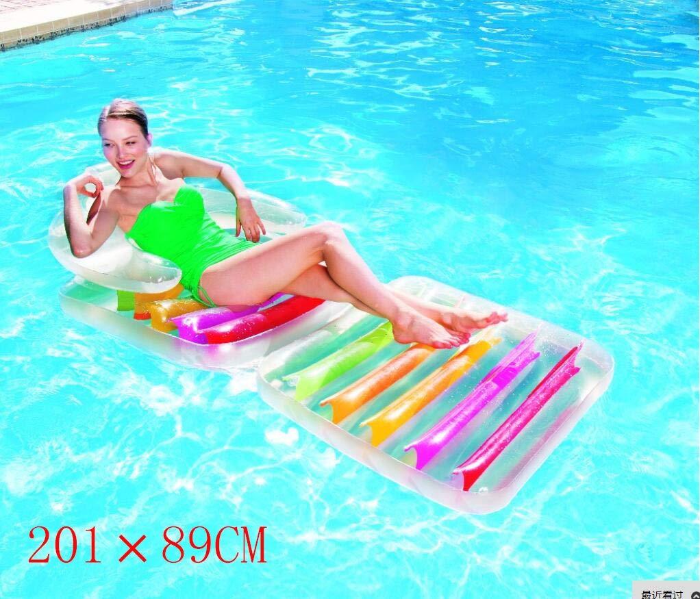 DUBAOBAO Hamacas Plegables de Doble Respaldo, 201x89cm Cama Inflable de Agua de Color, 4 en 1 sofá de la Piscina Inflable, Apto para Adultos y niños