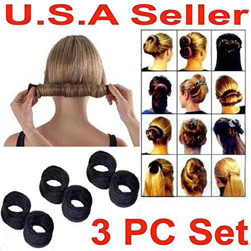 SM NEW 3 PCS Hairagami Hair Bun Updo Fold, Wrap & Snap Styling Tool by Sunday Market