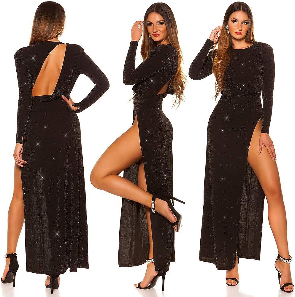Koucla - Vestido de cóctel para Nochevieja con Corte en la Espalda ...