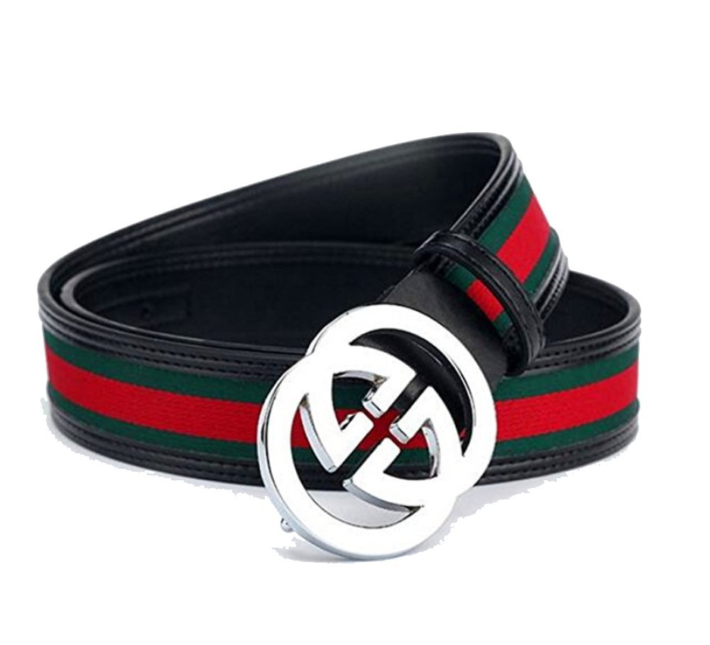 HG-products H-Style unisex Business Casual Belt [3.8CM] (GG Style, 105CM [Waist < 30''])