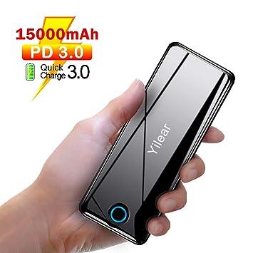 Power Bank PD 3.0, Batería Externa15800mAh con USB C, QC 3.0 & PD 18W Carga Rápida, Cargador Portátil con 3 Salidas y 2 entradas para iPhone 8/8 ...