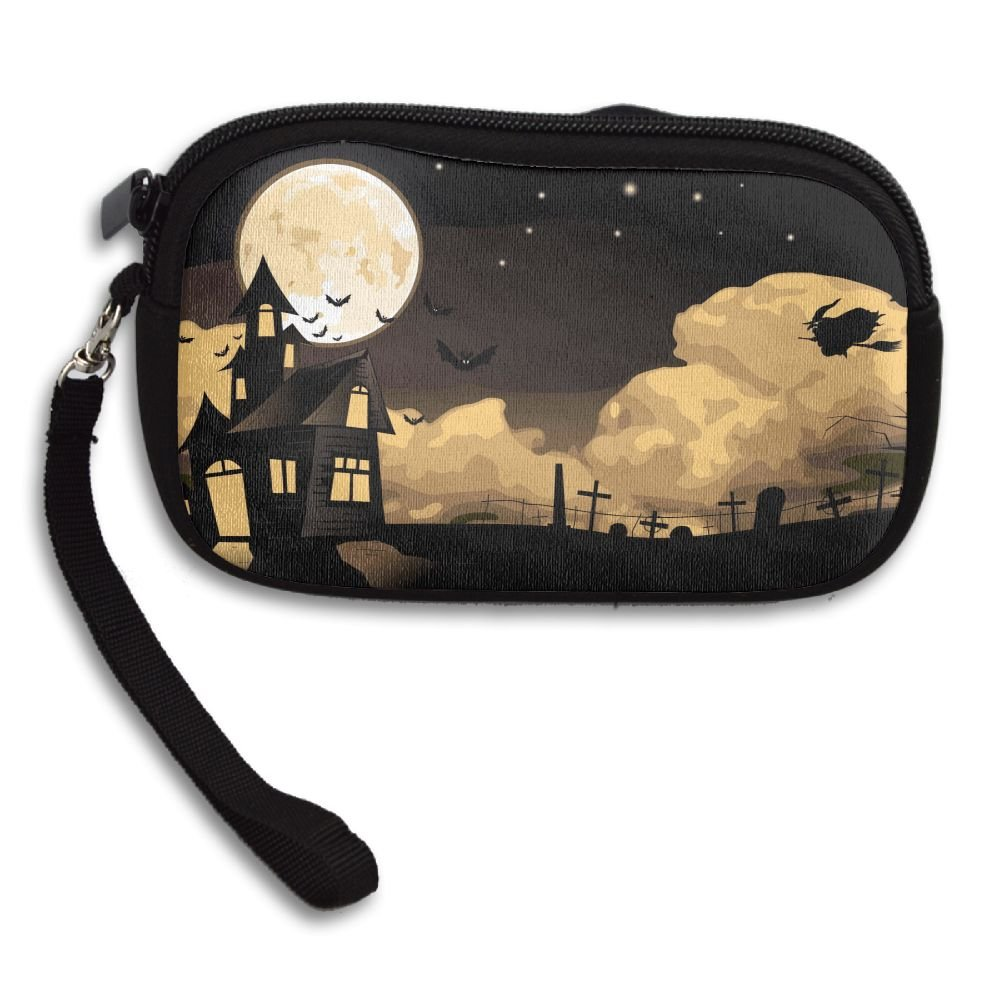 Halloween Witch Deluxe Printing Small Purse Portable Receiving Bag