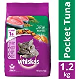 Whiskas Adult Dry Cat Food, Tuna Flavour – 1.2 kg Pack