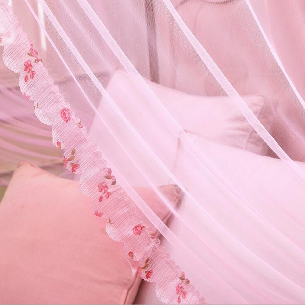 Moskitonetze MEIDUO Moskito Net Prinzessin Floor-Stil Prinzessin Net Mosquito Nets Square Top Drei Türen öffnen Edelstahl Moskito Netze (rosa/blau/hellrosa/lila/gelb) df99f6