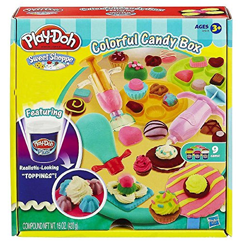 Play-Doh Sweet Shoppe Colorful Candy Box (Candy Box Sweet)
