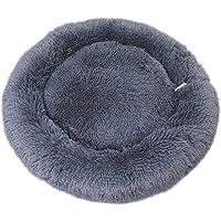 DaoRier Haustiernest Hundebett Katzenbett Winter Runde Plüsch-Bett für Hunde Katzen Kleintiere