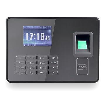 KKmoon asistencia máquina para ingeniería insignia con contraseña biométrico de huellas digitales TCP/IP 2.8 inch Protector de tiempo asistencia reloj apoyo ...