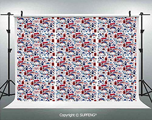 Photography Backdrops Pattern with London Symbols Queen Elizabeth