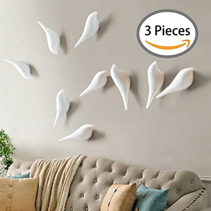 YOHEE 3D Creative Wall Decoration Bird Mural Bedroom Door Hooks Coat Hooks  Single Hooks Wall Hanger